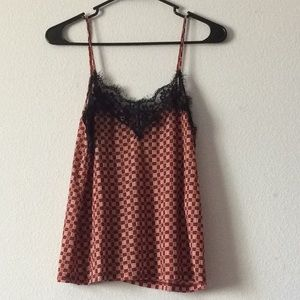 Zara checked lace top